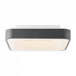 Plafoniera gri inchis/alba din plastic si metal cu LED Saria Brilliant