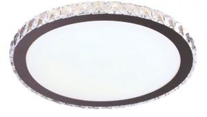 Plafoniera LED argintie din metal si sticla Prezzio Round Ceiling Maxlight