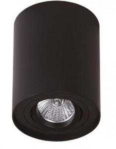 Plafoniera neagra din aluminiu Basic Round Black Maxlight