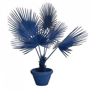 Planta artificiala albastra cu ghiveci din lut si plastic 169 cm Palm Pols Potten