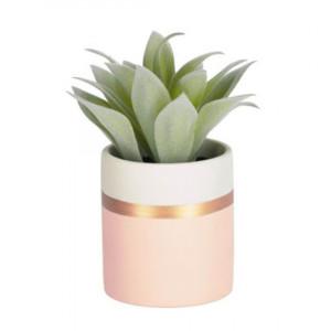 Planta artificiala cu ghiveci din polietilena si ceramica 14 cm Agave La Forma