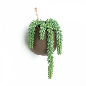 Planta artificiala cu ghiveci suspendabil din ciment si plastic 38 cm Flower La Forma