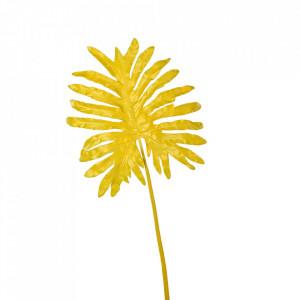 Planta artificiala galbena din fier si plastic 110 cm Selloum Pols Potten