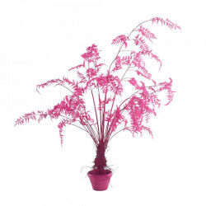 Planta artificiala roz cu ghiveci din lut si plastic 220 cm Fern Pink Pols Potten