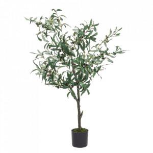 Planta artificiala verde din poliester si plastic 120 cm Olive Bizzotto