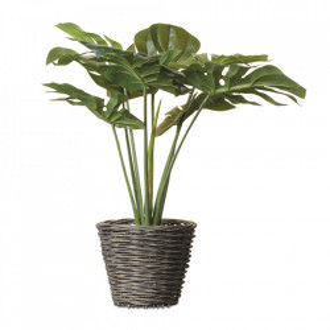 Planta artificiala verde/maro din plastic si papier mache 50 cm Tim Opjet Paris