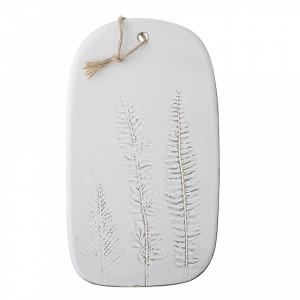 Platou alb din ceramica 23x41 cm Sena Creative Collection