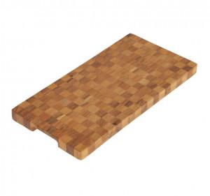 Platou maro din lemn de salcam 25x50 cm Aya Kave Home