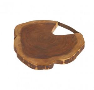 Platou maro din lemn de salcam 33 cm Ledy Kave Home