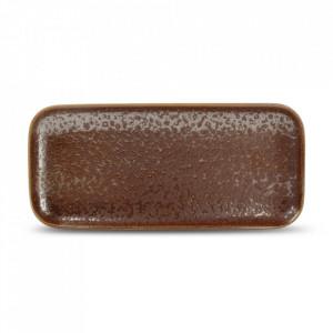 Platou maro din portelan 10x22 cm Oxido Fine2Dine