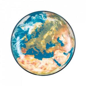 Platou multicolor din portelan 32 cm Cosmic Earth Europe Seletti