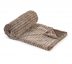 Pled maro din textil 130x160 cm Manta Roland Brown La Forma