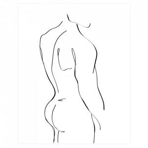 Poster alb/negru 30x40 cm Male Woood