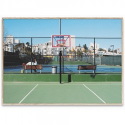 Poster cu rama stejar 30x40 cm Cities of Basketball 09 (San Francisco) Paper Collective
