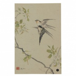 Poster multicolor din hartie 32x47 cm Swallows Be Pure Home