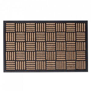 Pres dreptunghiular maro/negru din polipropilena pentru intrare 60x90 cm Bali Lako