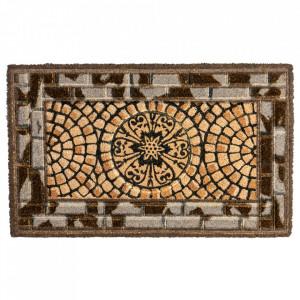Pres dreptunghiular multicolor din fibre de cocos pentru intrare 45x75 cm Mosaik Lako