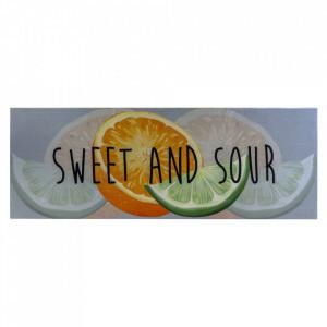 Pres dreptunghiular multicolor din poliamida pentru intrare 65x180 cm Sweet and Sour Lako