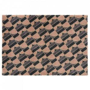 Pres dreptunghiular multicolor din poliamide pentru intrare 50x70 cm Monogram Multi Elle Decor
