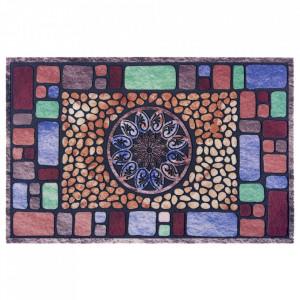 Pres multicolor dreptunghiular pentru intrare din polipropilena 45x70 cm Tampa The Home