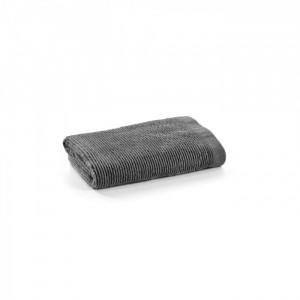 Prosop gri inchis din bumbac 50x100 cm Miekki La Forma