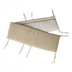 Protectie crem/bej din textil pentru patut Ethnic Quax