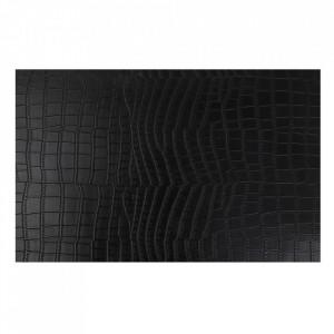 Protectie masa dreptunghiulara neagra din plastic si textil 30x45 cm Layer Aerts