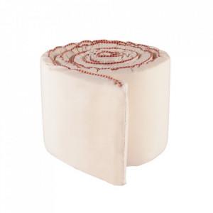 Protectie patut roz din bumbac 30x350 cm Haikan Oyoy