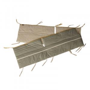 Protectie verde kaki/bej din textil pentru tarc de joaca Ethnic Reverse Quax
