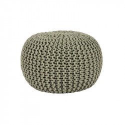 Puf rotund oliv din bumbac 50 cm Andrew LABEL51