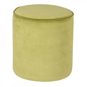 Puf verde deschis rotund din catifea 38 cm Klint Zago