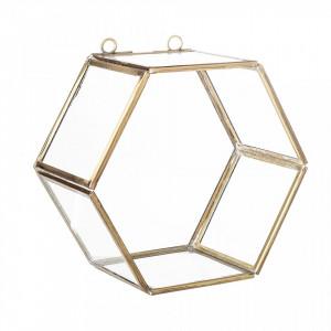 Raft auriu din alama si sticla Display Creative Collection