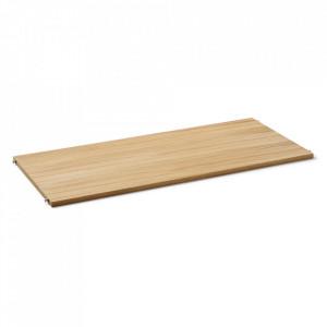 Raft maro deschis/gri din lemn 90 cm Punctual Ferm Living