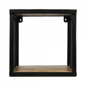 Raft maro/negru din lemn si fier 30 cm Brixton HSM Collection