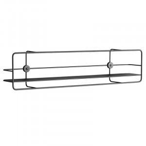 Raft negru din metal 90 cm Coupe Woud