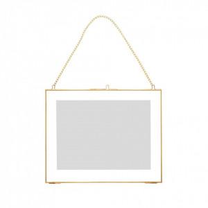 Rama foto cu lant galben din alama 30x24 cm Hubsch