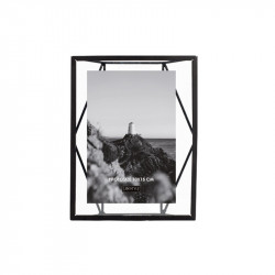 Rama foto neagra/transparenta din metal si sticla pentru perete 16x21 cm Nuri LifeStyle Home Collection