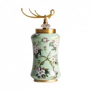 Recipient cu capac multicolor din ceramica 25x47 cm Ruslan Vical Home