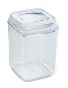 Recipient cu capac transparent/alb din polistiren si plastic 0,9 L Turin Medium Wenko