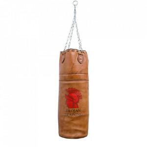 Sac de box decorativ maro din piele 97 cm Punchbag Versmissen