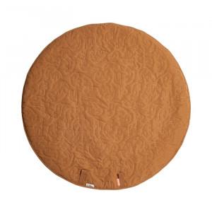 Saltea de joaca galben mustar din poliester 90 cm Mustard Mat Done by Deer