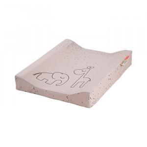 Saltea din bumbac si spuma polieterica pentru schimbat scutece 50x65 cm Pink Done by Deer