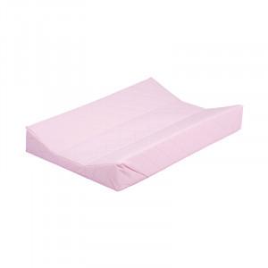 Saltea matlasata roz din PVC pentru masa de infasat 44x67 cm Sara Quax