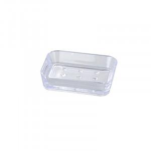 Savoniera transparenta din polistiren 9x12 cm Candy Soap Wenko