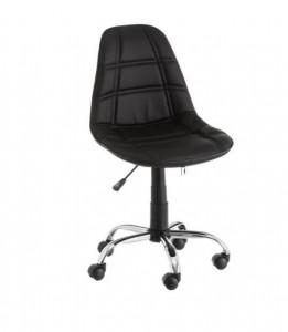 Scaun ajustabil negru din piele ecologica pentru birou Studio Black Unimasa