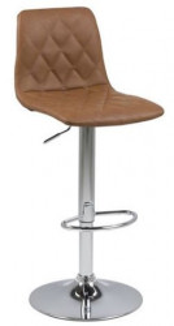 Scaun bar ajustabil maro/argintiu din poliuretan si metal Emu Actona Company