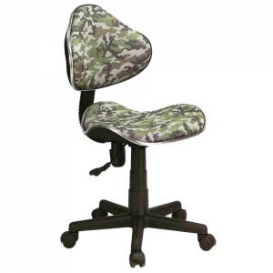 Scaun birou ajustabil multicolor din textil si metal Q-G2 Army Signal Meble