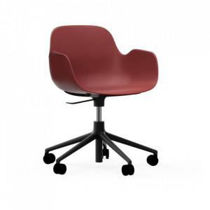 Scaun birou ajustabil rotativ rosu/negru din polipropilena Form 5W Normann Copenhagen