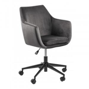 Scaun birou gri/negru din metal si textil Nora Actona Company