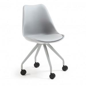 Scaun cu roti pentru birou plastic gri Lars La Forma